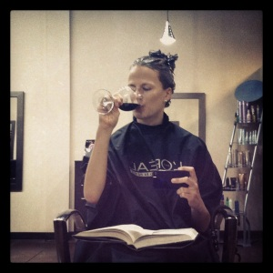 book wine hair